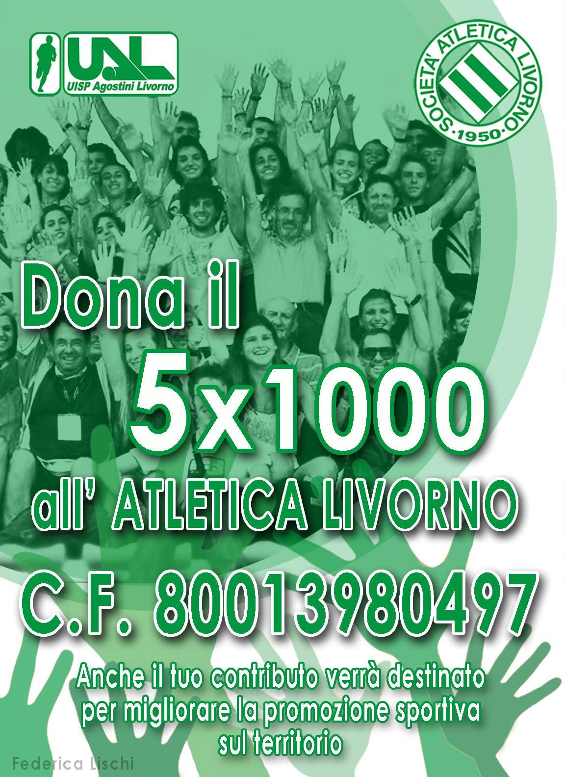 Dona il 5x1000 all'Atletica Livorno!